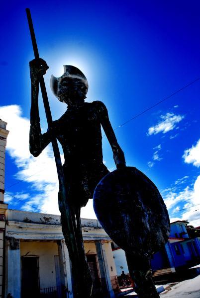 Monumento Escultórico El Quijote, en el Paseo de la Avenida Libertad, en el municipio Puerto Padre, en la oriental provincia Las Tunas, Cuba, el 23 de noviembre de 2009. Obra de los escultores Elevis Báez y Pedro Escobar Mora. (Foto: Yaciel Peña de la Peña)