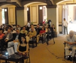El Dr. Robert Curl, Profesor Emérito de la Universidad de Rice, en los EE.UU, Premio Nobel de Química en 1996, dictó una Conferencia Magistral, durante el inicio del Encuentro Internacional de las Ciencias Naturales en la Era del Nano, el 23 de Noviembre de 2009, en la Universidad de La Habana. Foto: Oriol de la Cruz Atencio/AIN