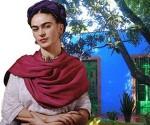 Frida Khalo en la Casa Azul, de Coyoacán.