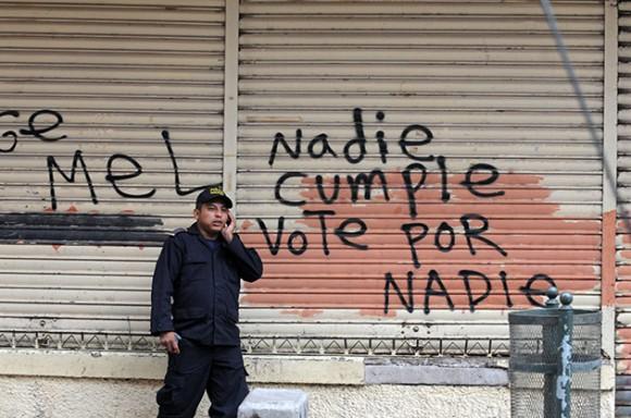 Honduras contra el golpe militar. Foto: AFP