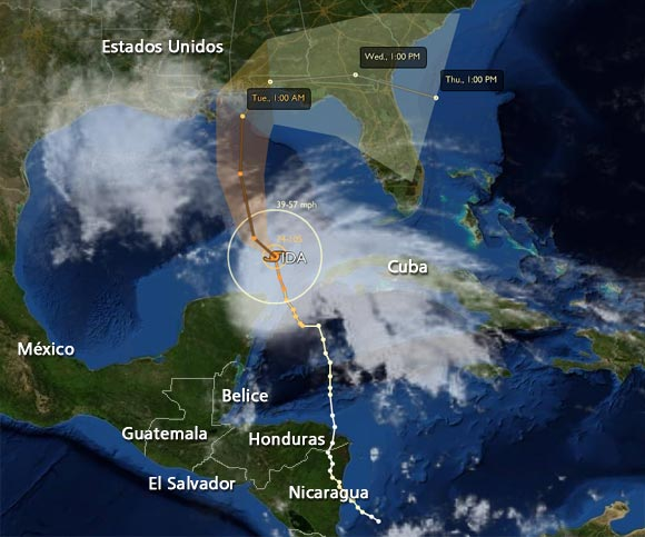 Huracán Ida ya en el Golfo de México, lluvias afectan occidente de Cuba