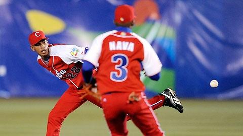 La selección nacional cubana apostó por los santiagueros Luis Miguel Nava y Héctor Olivera en los últimos eventos. Foto: IBAF