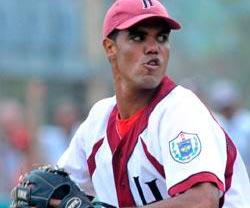 El pitcher Miguel Alfredo en la Serie Nacional de Beisbol 1 de noviembre 2009