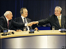 Gorbachov, Bush y Kohl
