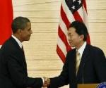 Barack Obama y Yukio Hatoyama, durante la conferencia de prensa. Foto Ap