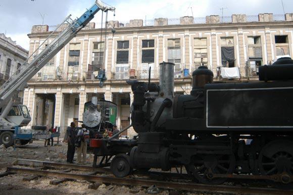Construyen en capital cubana museo de locomotoras antiguas