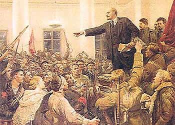 Celebran aniversario de la Gran Revolución Socialista de Octubre.