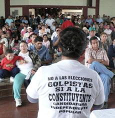 Reyes, reunión de la Resistencia. (Foto: Giorgio Trucchi)
