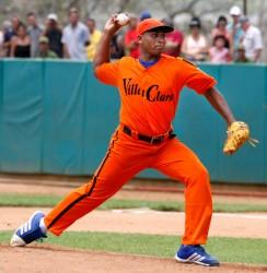 Freddy Asiel Álvarez puntal de Villa Clara en cuartos de final Foto: Alex Castro