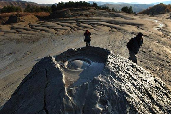 Imagen del volcán Buzau en Rumanía