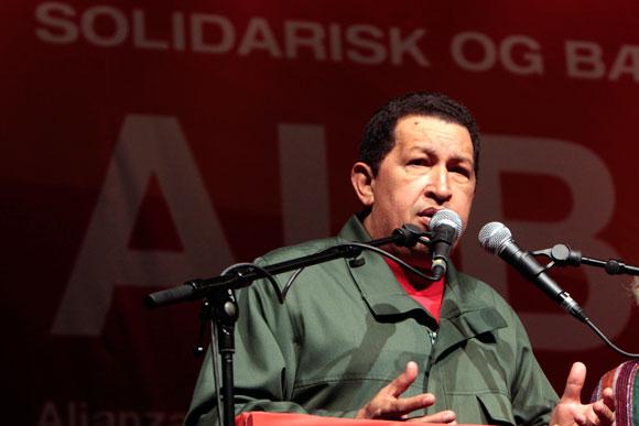 Hugo Chávez en el encuentro con movimientos sociales en Copenhague