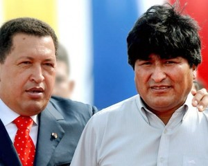 Hugo Chávez y Evo Morales.