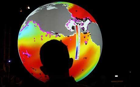 Calendario elaborado por científicos de las universidades de Adelaida, Estocolmo y Australia sobre el avance de los daños en el Planeta debido al cambio climático. Foto: GETTY