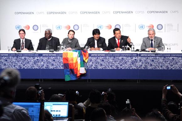 Confernecia de Prensa de las delegaciones de Venezuela, Bolivia y Cuba