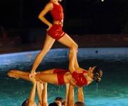 Ballet Acuático de Holguín, en el primer evento nacional, en el Palacio de la Juventud, en Camagüey