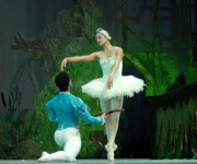 Ballet de Camagüey, interpretando el Lago de los Cisnes, en gala homenaje por el aniversario 42 de la Compañía, en el Teatro Principal, el 8 de diciembre del 2009. AIN FOTO/ Rodolfo BLANCO CUE
