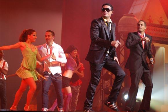 Actuacion del grupo de Pachito Alonso , durante la primera Gala de Premiaciones Lucas 2009