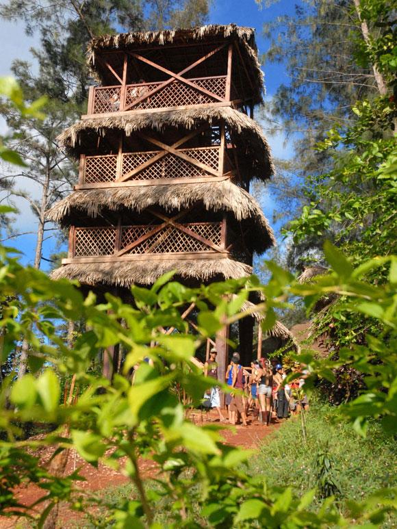 Salto del Gayabo, principal atractivo del parque nacional La Mensura, Holguin, Cuba