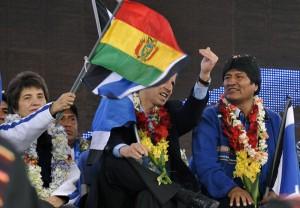 Evo Morales en un acto en Bolivia (Foto: AFP)