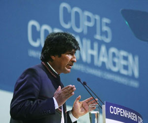 Evo Morales en Copenhague
