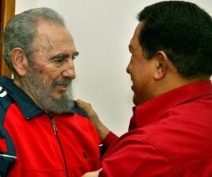 Fidel Castro y Hugo Chávez. (Foto: Archivo de Cubadebate)