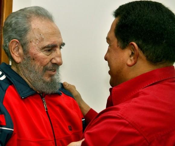 Fidel y Chávez el 13 de diciembre de 2009.