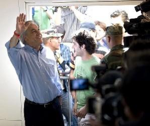 El candidato derechista, Sebastián Piñera, en Santiago de Chile. Foto: AFP