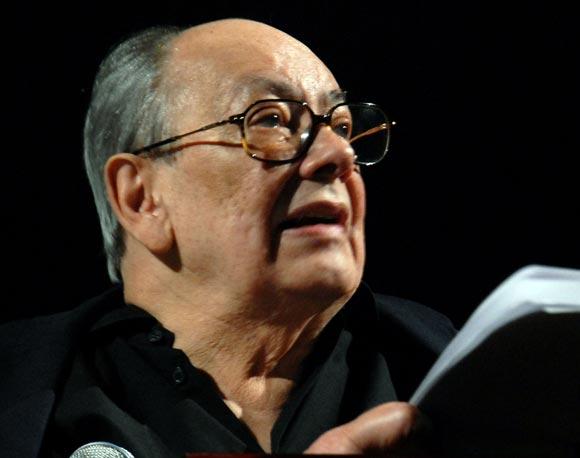 Alfredo Guevara en la inauguración del Festival del Nuevo Cine Latinoamericano
