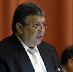 Intervención de Marino Murillo Jorge, Vicepresidente del Consejo de Ministros y Ministro de Economía y Planificación, en el IV período ordinario de sesiones del parlamento cubano, en su Séptima Legislatura, que tiene lugar en el Palacio de Convenciones de La Habana, Cuba, el 20 de diciembre de 2009. AIN FOTO/Marcelino VAZQUEZ HERNANDEZ