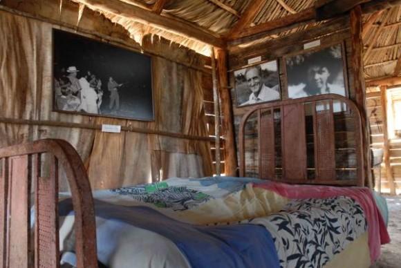 Bohíos museos construidos por la brigada artística Martha Machado, para rememorar el acontecimiento ocurrido 50 años atrás, en el poblado de Soplillar, en la Cienaga de Zapata, el 25 de diciembre de 2009 AIN FOTO/Marisol RUIZ SOTO