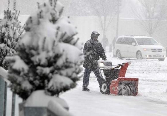 Espectacular nevada en Washington. Foto: Reuters