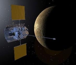 Sonda Messenger alrededor de Mercurio.