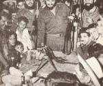 """Nochebuena en Soplillar con Fidel Castro. Foto: Raúl Corrales (Tomada del libro """"En marcha con Fidel"""")"""