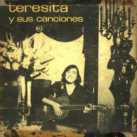 """""""Teresita y sus canciones"""", tapa del disco de Teresita Fernández que incluyó sus primeras canciones."""