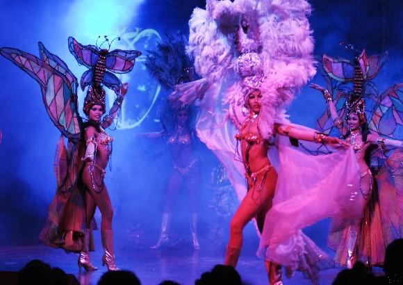 Gala artística por el aniversario 70 del cabaret Tropicana en La Habana, Cuba, el 28 de diciembre de 2009. AIN FOTO/Abel ERNESTO