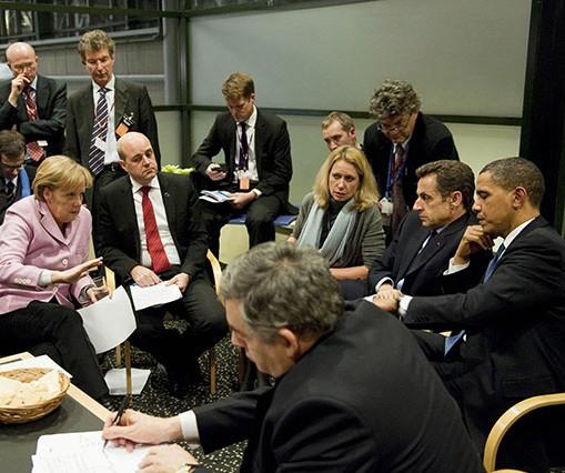 Cumbre de Copenhague_reunión de los países ricos con Barack Obama
