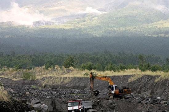Volcán Mayón en Filipinas. Foto: EFE