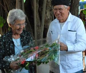 Yolanda Pujols junto al actor Salvador Wood, su esposo durante más de 60 años. Foto: Roberto Suárez/ Granma