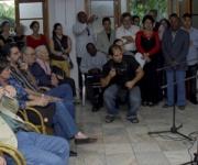 """Actuación del dúo """"Karma"""" (D), durante el acto de entrega del Premio """"Maestro de Juventudes"""" el 28 de enero del 2010, en la sede de la Unión de Escritores y Artistas de Cuba (UNEAC), en La Habana AIN Foto: Oriol de la Cruz Atencio"""