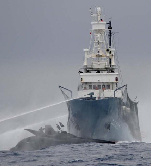 Accidente barco en la Antártida (Foto AFP)