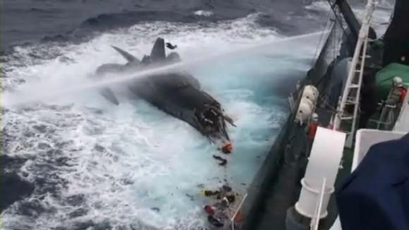 Accidente barco japonés en la Antártida
