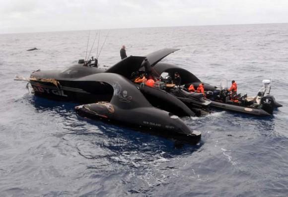 Accidente barco japonés en la Antártida (Foto: AFP)