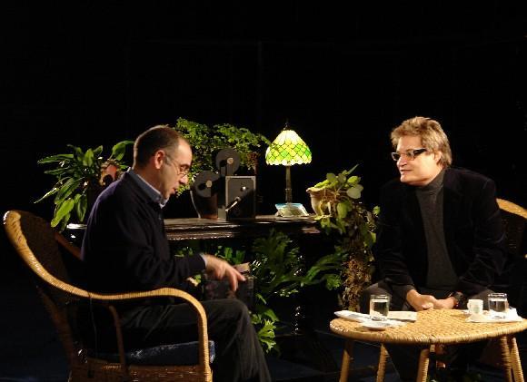Entrevista con Giuseppe Tornatore, realizada por Amaury Pérez, el 10 de enero de 2010. Foto: Petí
