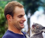 Andy Roddick y el koala