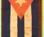 La Bandera Nacional que ondeó por primera vez en Cuba en 1850.