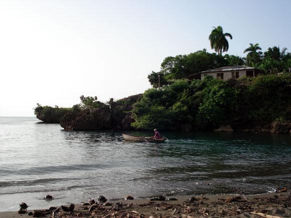 Desembocadura del río Miel. Baracoa, en la provincia de Guantánamo al Oriente de Cuba