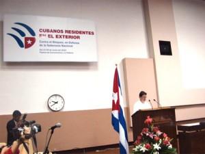 Bruno Rodríguez Parrilla inaugura reunión de emigrados en La Habana.