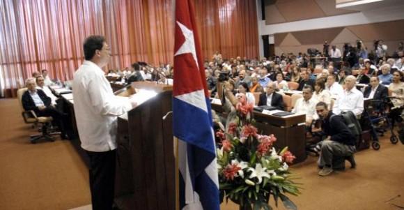 """""""Encuentro de Cubanos Residentes en el Exterior contra el bloqueo, en Defensa de la Soberanía nacional"""", en el Palacio de las Convenciones, en Ciudad de La Habana, el 27 de enero de 2010. AIN FOTO/ Marcelino VAZQUEZ HERNANDEZ"""