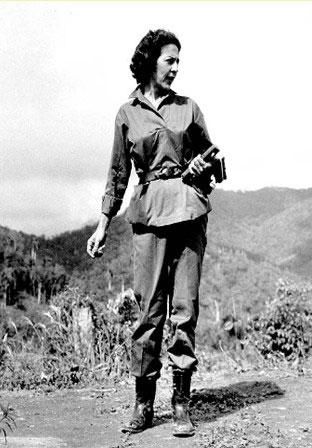 Celia Sánchez Manduley en la Sierra Maestra
