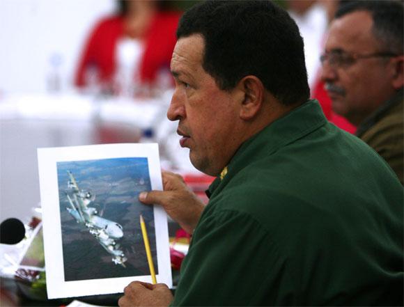Chávez explica la penetracion de aviones norteamericanos a territorio venezolano